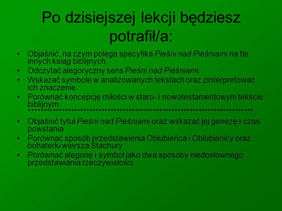 Jak odczytać Pieśń nad Pieśniami.2.