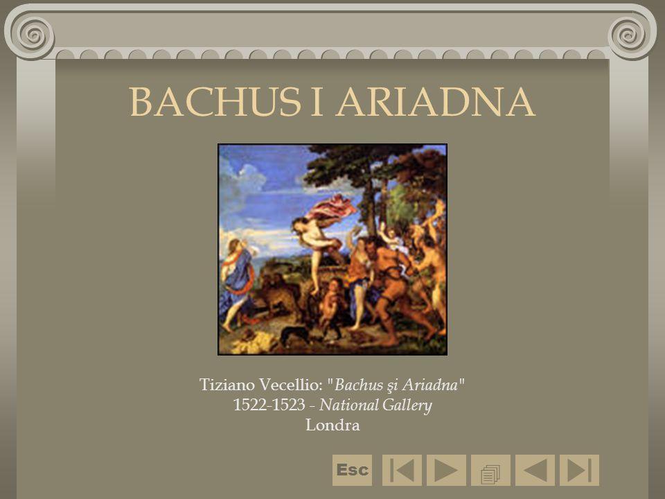 BACHTANKI U mitologii greckiej i rzymskiej - nimfy towarzyszące Bachsowi- Dionizosowi; przedstawiane z tyrsem i w girlandach winorośli lub bluszczu.tyrsem  Esc
