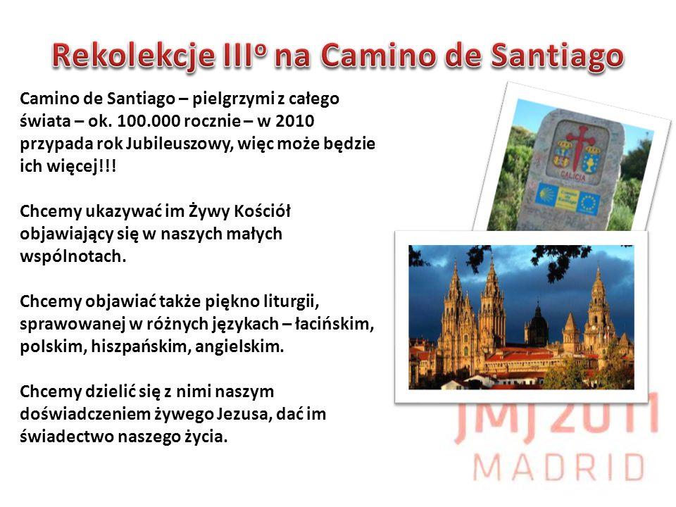 Camino de Santiago – pielgrzymi z całego świata – ok. 100.000 rocznie – w 2010 przypada rok Jubileuszowy, więc może będzie ich więcej!!! Chcemy ukazyw