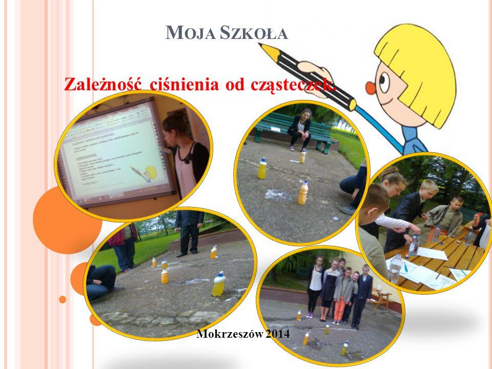 M OJA S ZKOŁA Mokrzeszów 2014 Zależność ciśnienia od cząsteczek.