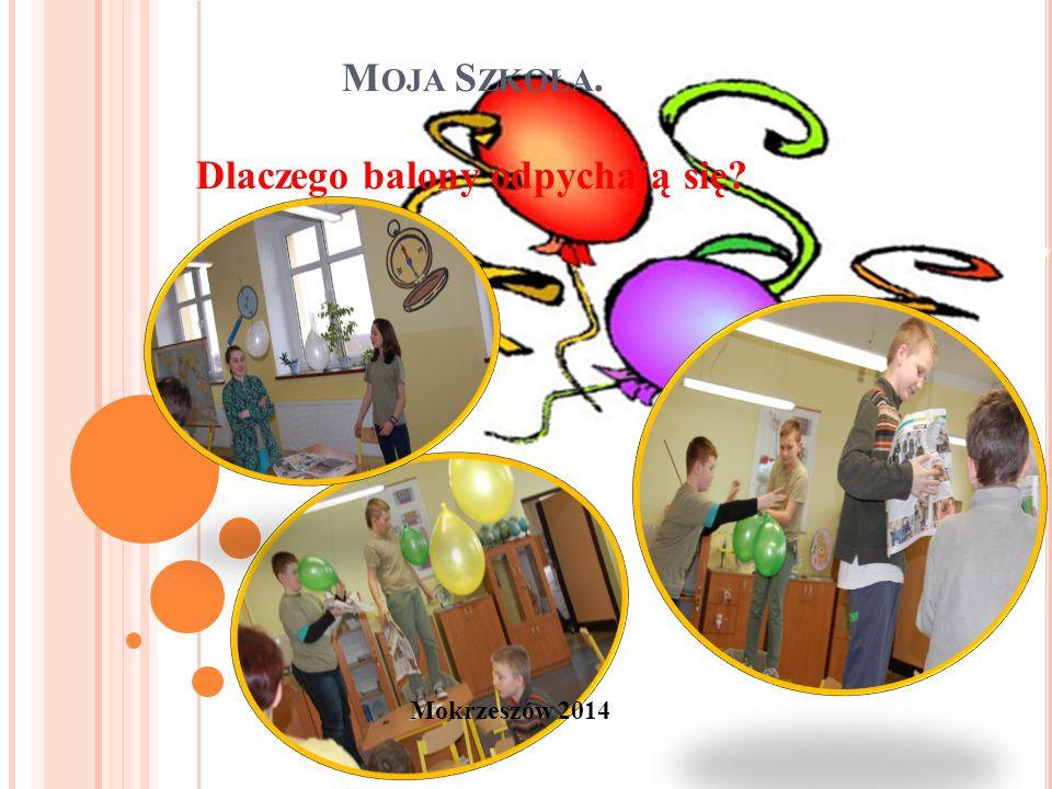 Mokrzeszów 2014 M OJA S ZKOŁA. Dlaczego balony odpychają się