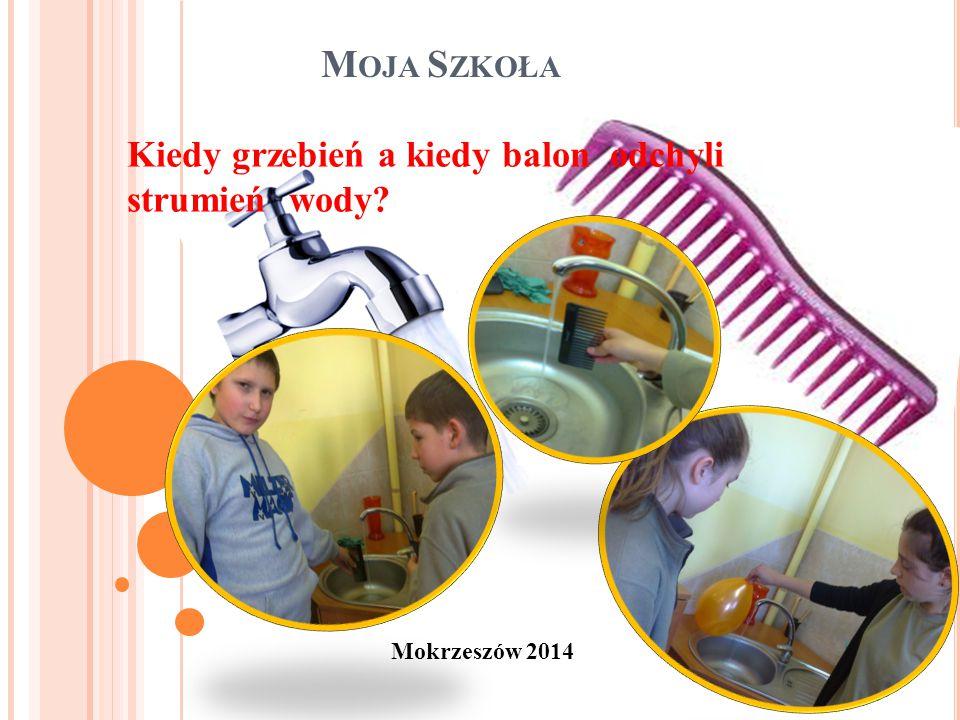 M OJA S ZKOŁA Mokrzeszów 2014 Kiedy grzebień a kiedy balon odchyli strumień wody