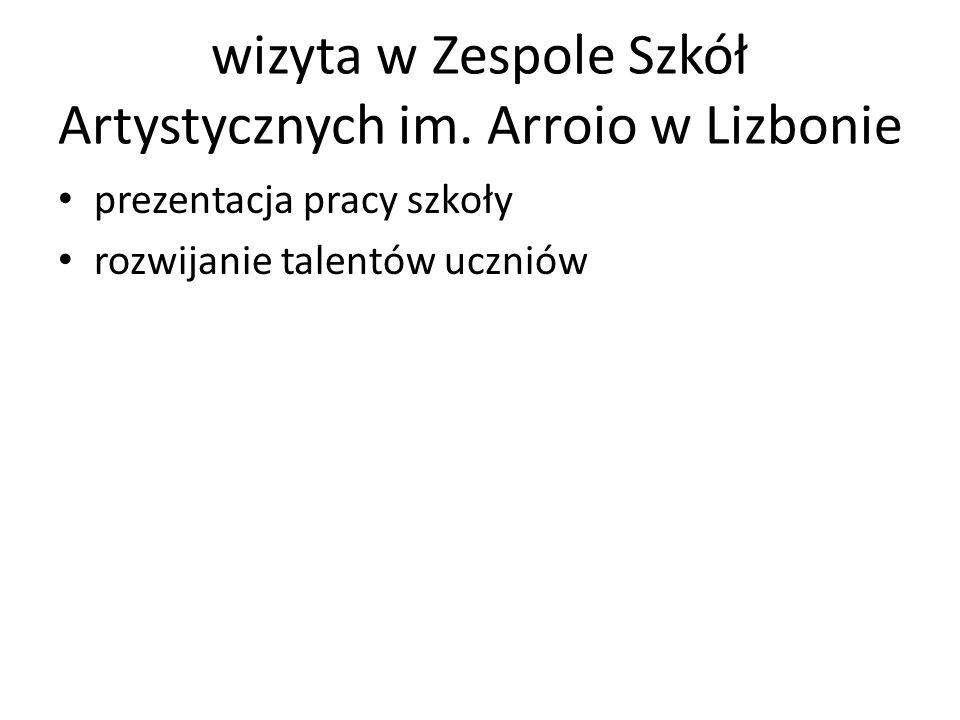 wizyta w Zespole Szkół Artystycznych im.