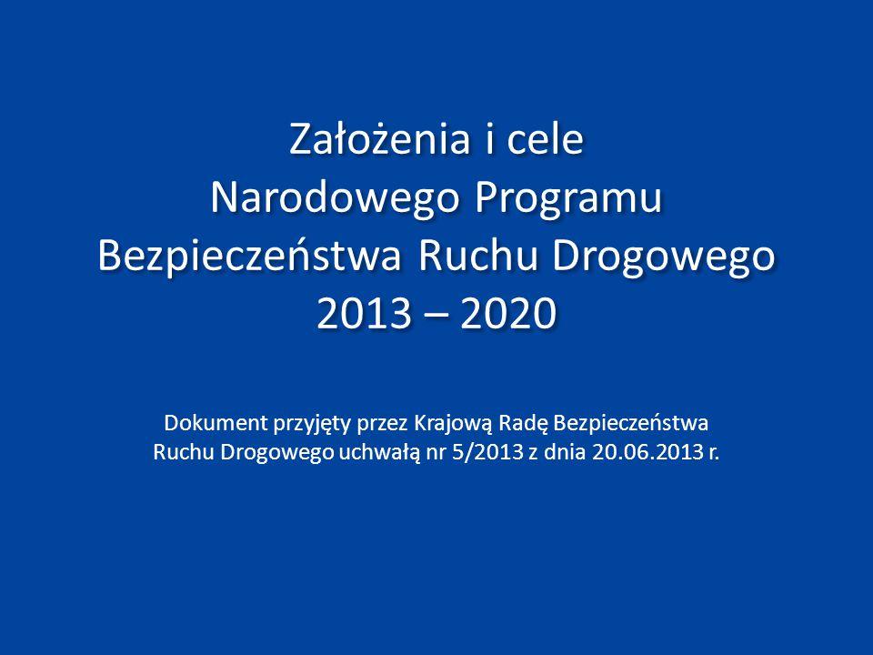 Dotychczasowy program bezpieczeństwa ruchu drogowego W 2005 roku rząd przyjął Krajowy Program Poprawy Bezpieczeństwa Ruchu Drogowego GAMBIT 2005.