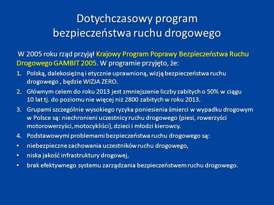 Ocena realizacji Programu GAMBIT 2005 wg stanu na rok 2010 wskazuje, że: 1.