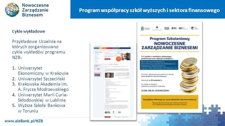 Program współpracy szkół wyższych i sektora finansowego W ramach programu NZB Związku Banków Polskich udostępnia nieodpłatnie pracownikom naukowym i studentom bieżące numery i całość archiwum specjalistycznych pism branżowych.
