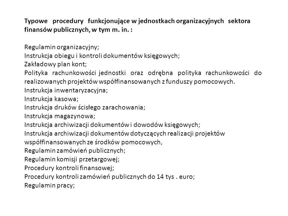 III.Formy organizacyjne kontroli wewnętrznej.