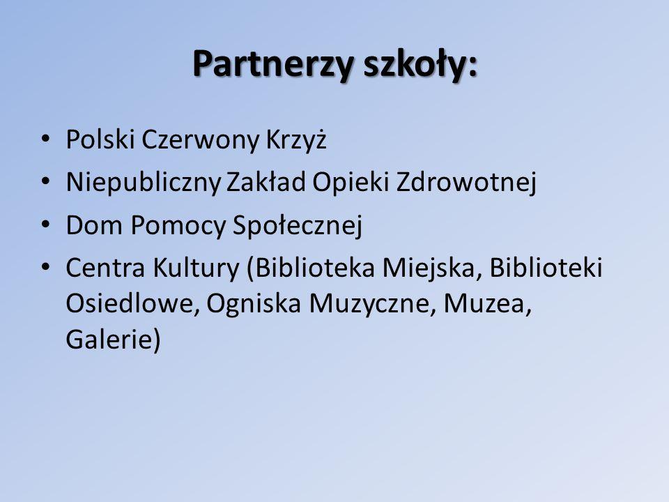 Partnerzy szkoły: Placówki oświatowe: – szkoły i przedszkola, Koła łowieckie Instytucje i organizacje wspierające edukację ekologiczną.
