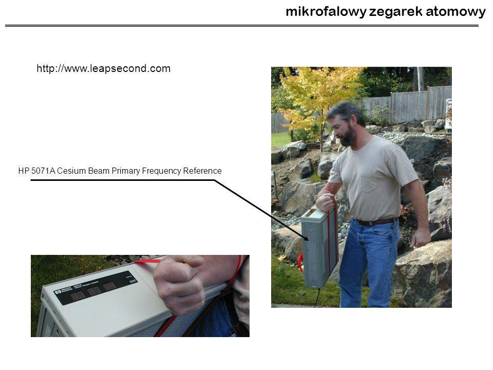 mikrofalowy zegarek atomowy http://www.leapsecond.com HP 5071A Cesium Beam Primary Frequency Reference