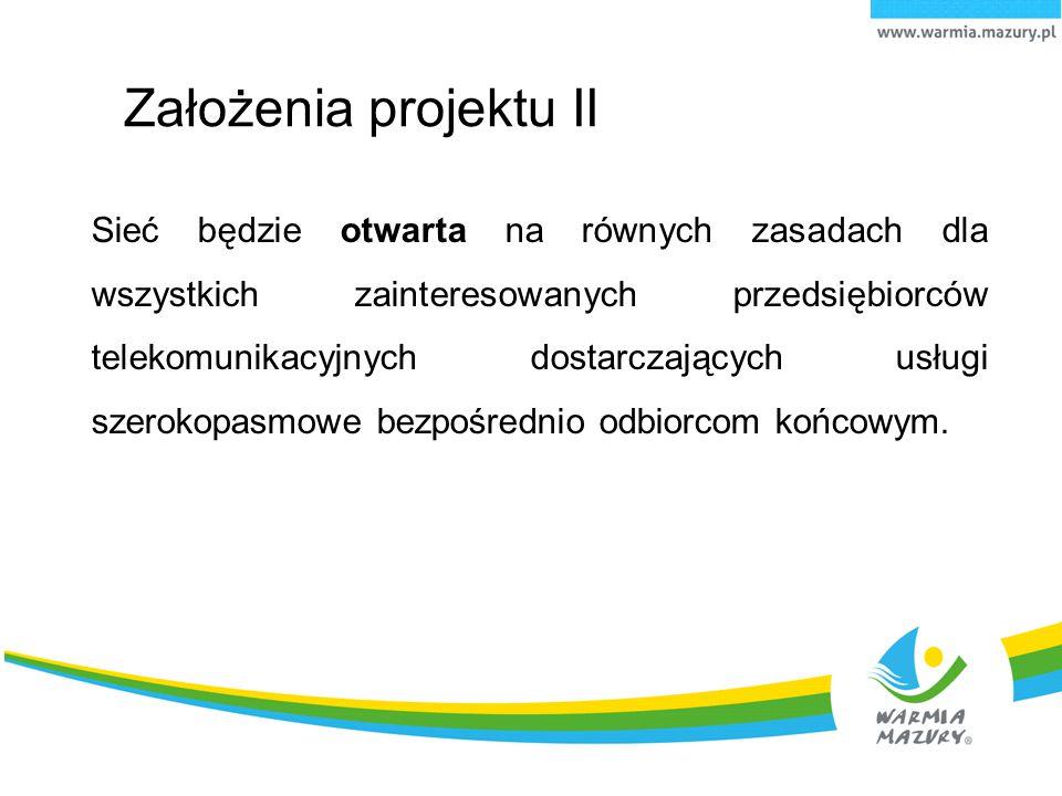 Infrastruktura wybudowana w ramach projektu będzie własnością województwa.