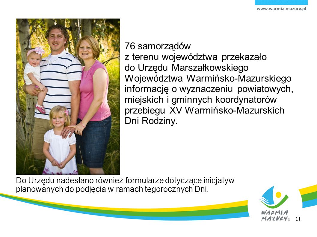 76 samorządów z terenu województwa przekazało do Urzędu Marszałkowskiego Województwa Warmińsko-Mazurskiego informację o wyznaczeniu powiatowych, miejs