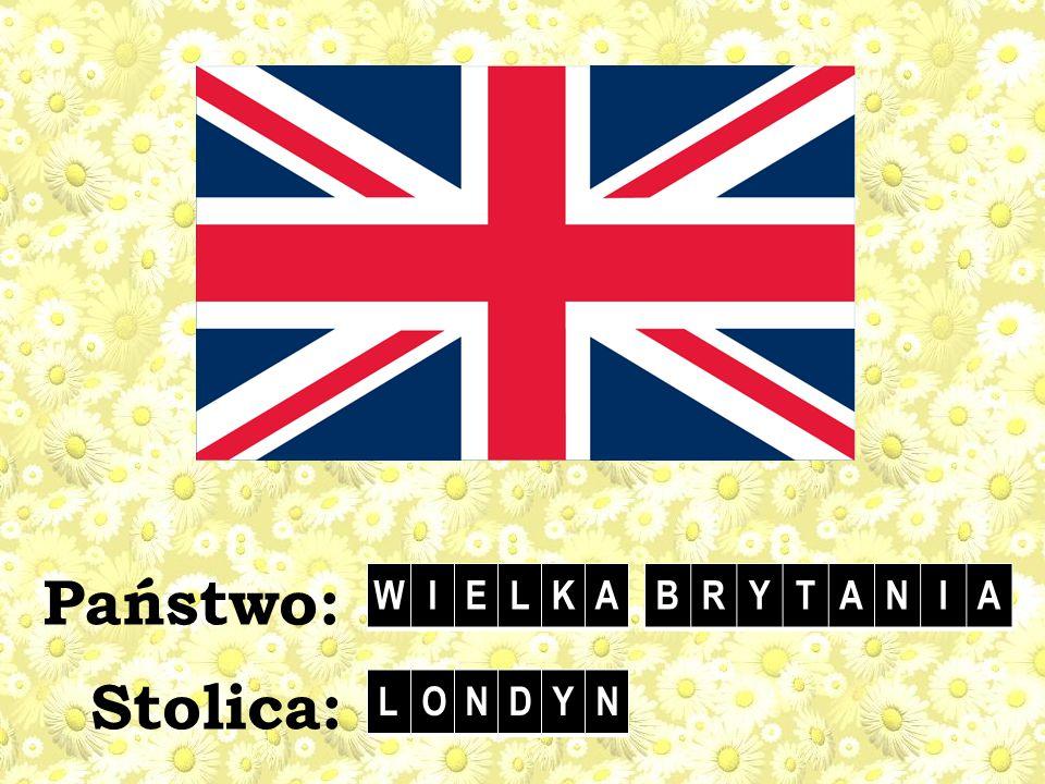 Stolica: Państwo: WIELKABRYTANIA LONDYN