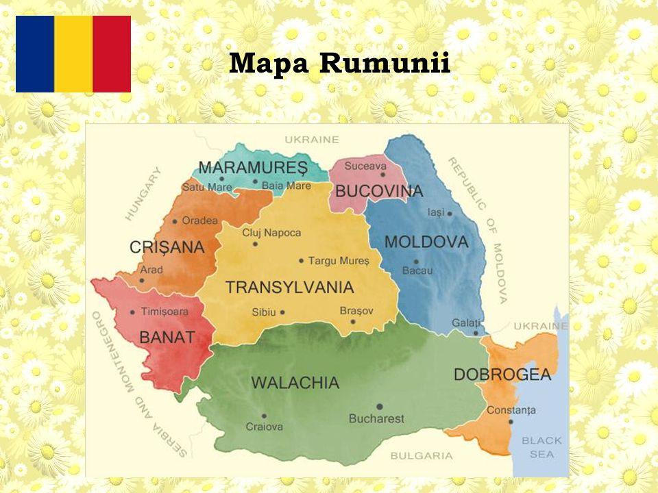 Mapa Rumunii