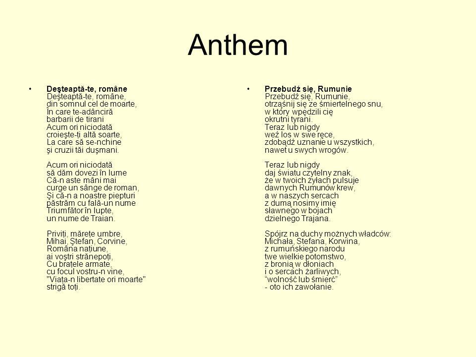 Anthem Deşteaptă-te, române Deşteaptă-te, române, din somnul cel de moarte, În care te-adânciră barbarii de tirani Acum ori niciodată croieşte-ţi altă