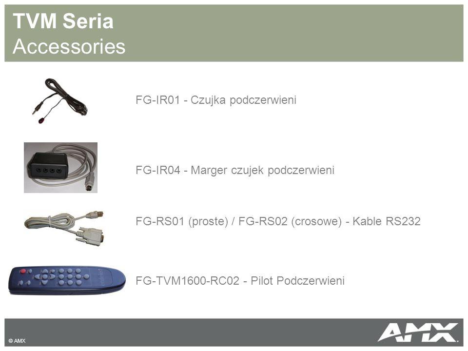 TVM Seria Accessories FG-IR01 - Czujka podczerwieni FG-IR04 - Marger czujek podczerwieni FG-TVM1600-RC02 - Pilot Podczerwieni FG-RS01 (proste) / FG-RS