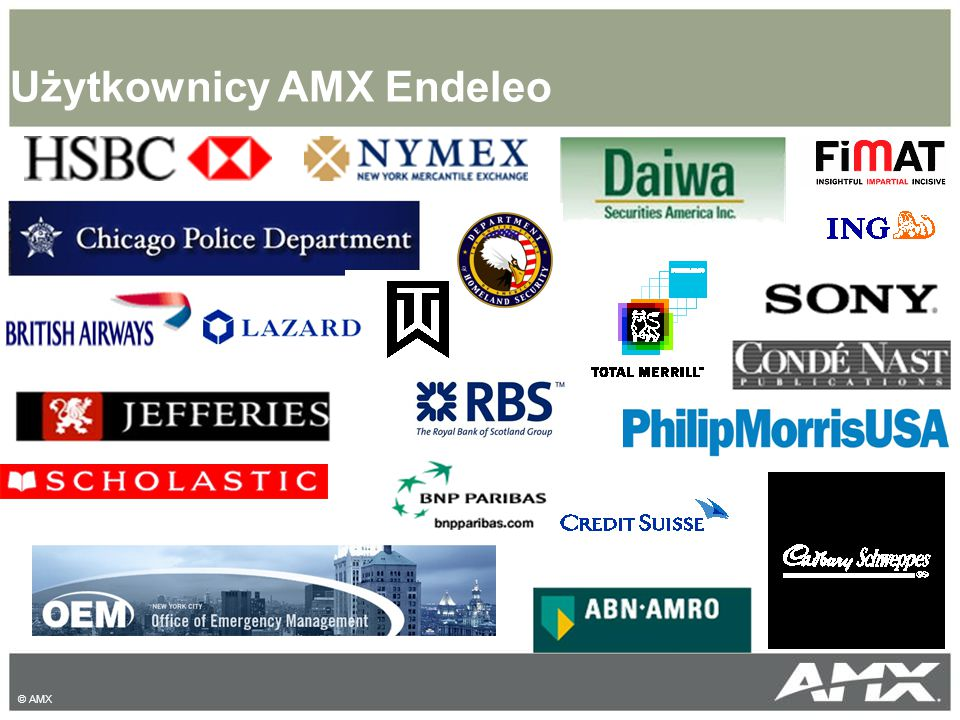 Użytkownicy AMX Endeleo © AMX