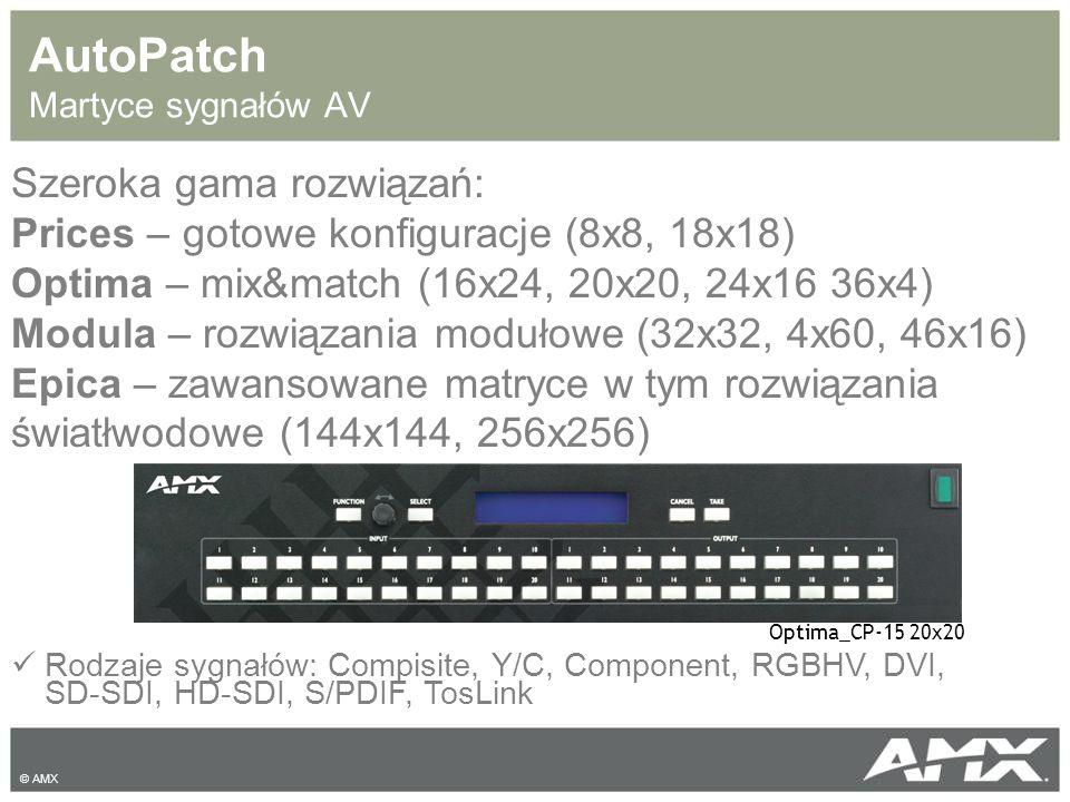 AutoPatch Martyce sygnałów AV Rodzaje sygnałów: Compisite, Y/C, Component, RGBHV, DVI, SD-SDI, HD-SDI, S/PDIF, TosLink Szeroka gama rozwiązań: Prices
