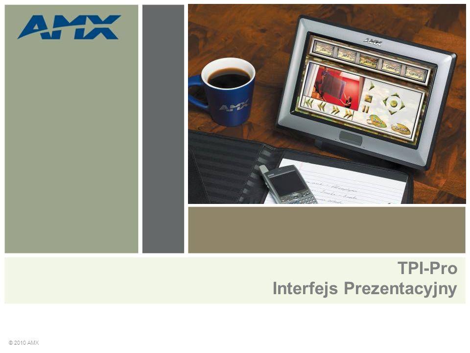 Przegląd produktów The Total Presentation Interface – Professional (TPI-PRO)  Symultaniczne wyświetlanie do czterech źródeł video i zarządzanie nimi  Wsparcie różnych sygnałów video (do 4) i różnych formatów (S-Video, Composite, Component, VGA)  Skalowanie rozdzielczości w górę © 2010 AMX
