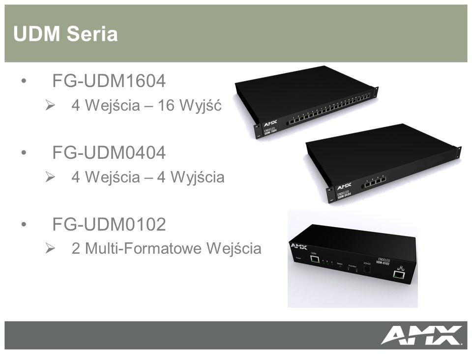 UDM Seria FG-UDM1604  4 Wejścia – 16 Wyjść FG-UDM0404  4 Wejścia – 4 Wyjścia FG-UDM0102  2 Multi-Formatowe Wejścia