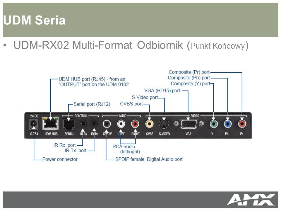 UDM-RX02 Multi-Format Odbiornik ( Punkt Końcowy ) UDM Seria