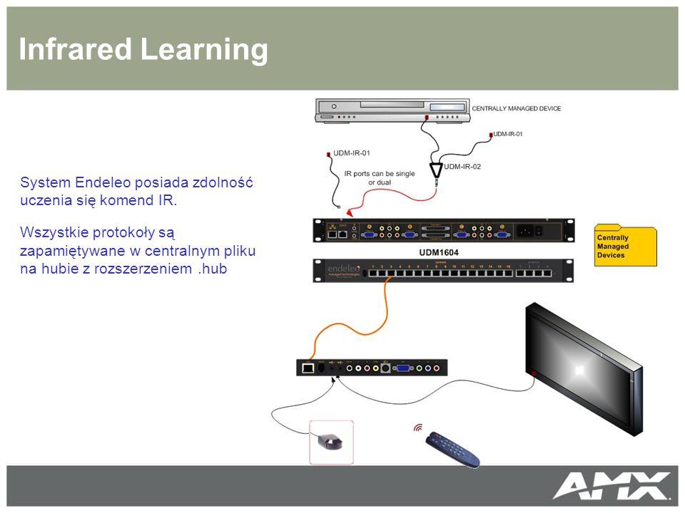 Infrared Learning System Endeleo posiada zdolność uczenia się komend IR.