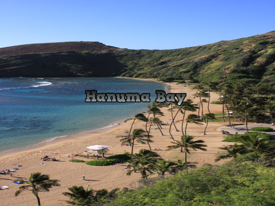 Hanuma Bay, the curve of the bay is a very popular and widely beloved tourist attraction.