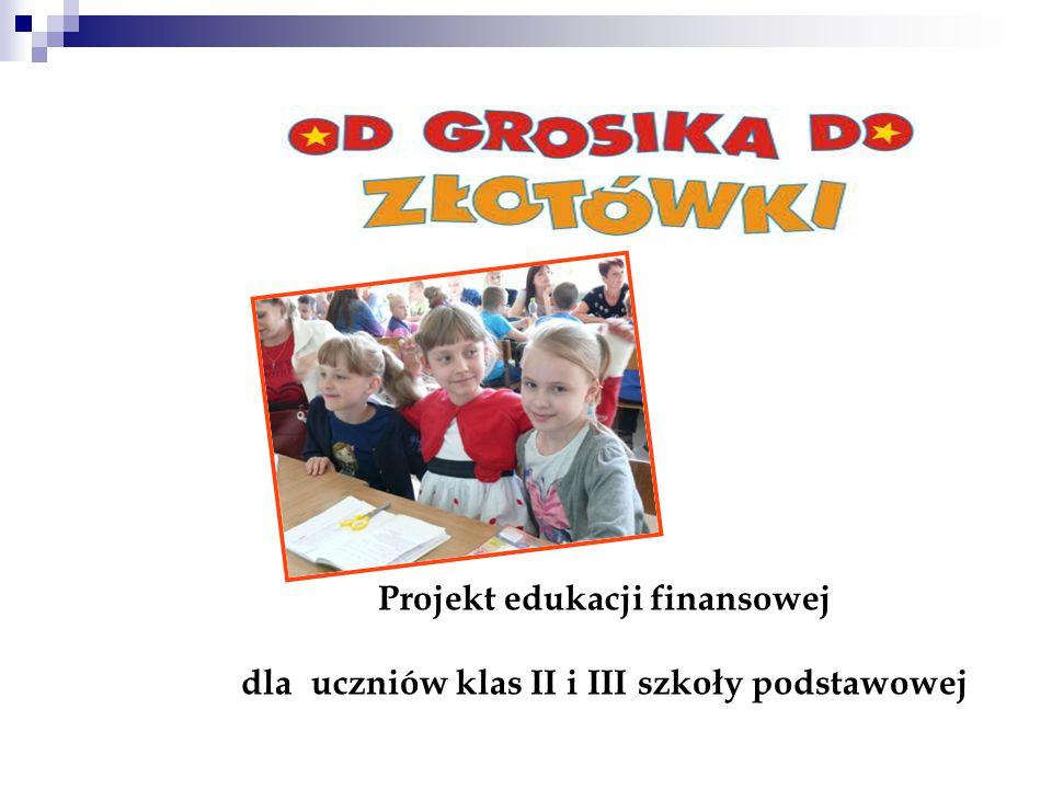 Projekt edukacji finansowej dla uczniów klas II i III szkoły podstawowej
