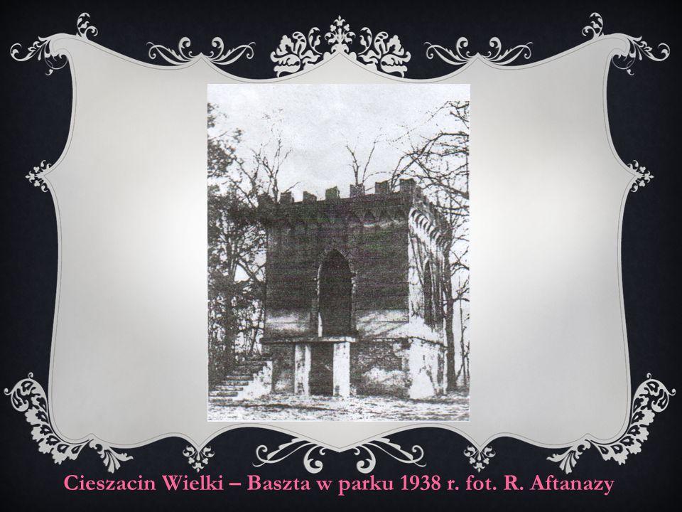 Cieszacin Wielki – Baszta w parku 1938 r. fot. R. Aftanazy