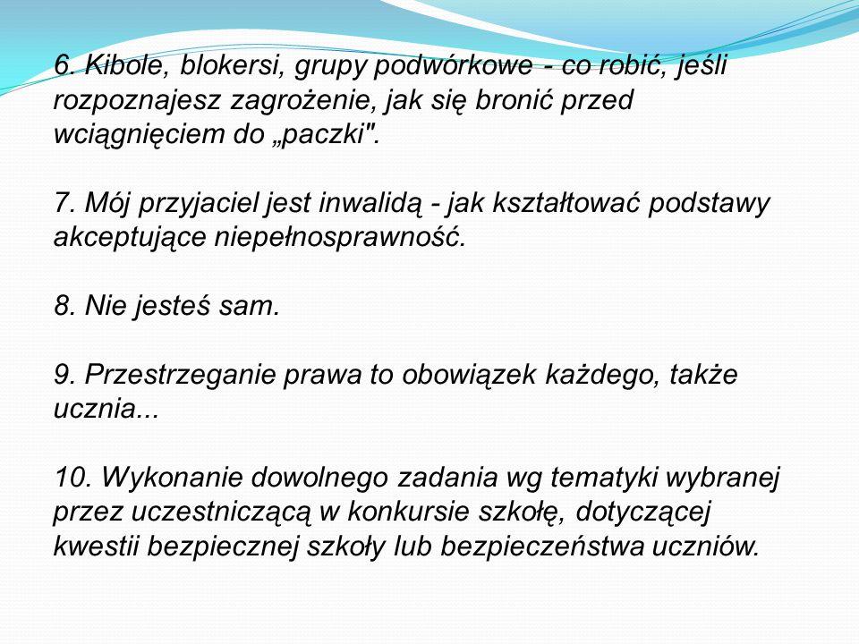 """6. Kibole, blokersi, grupy podwórkowe - co robić, jeśli rozpoznajesz zagrożenie, jak się bronić przed wciągnięciem do """"paczki"""