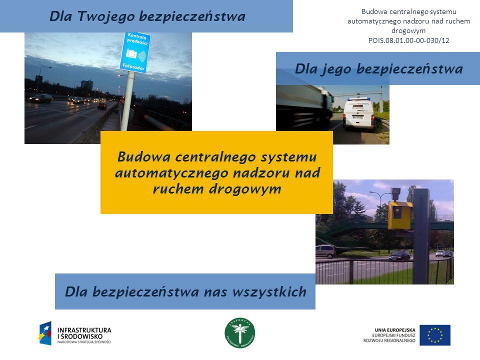 Dla Twojego bezpiecze ń stwa Budowa centralnego systemu automatycznego nadzoru nad ruchem drogowym POIS.08.01.00-00-030/12 Dla bezpiecze ń stwa nas ws