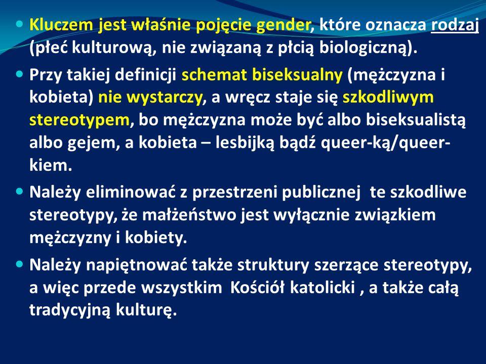 Kluczem jest właśnie pojęcie gender, które oznacza rodzaj (płeć kulturową, nie związaną z płcią biologiczną). Przy takiej definicji schemat biseksualn