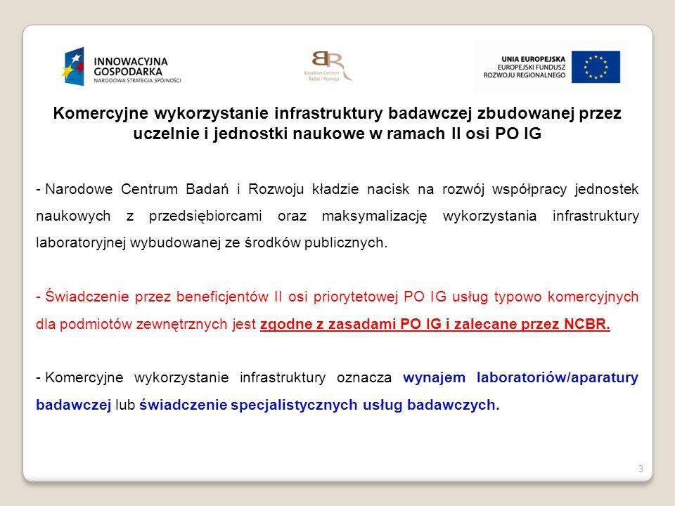 4 4 Komercyjne wykorzystywanie infrastruktury Minister Nauki i Szkolnictwa Wyższego 19 luty 2014 r.
