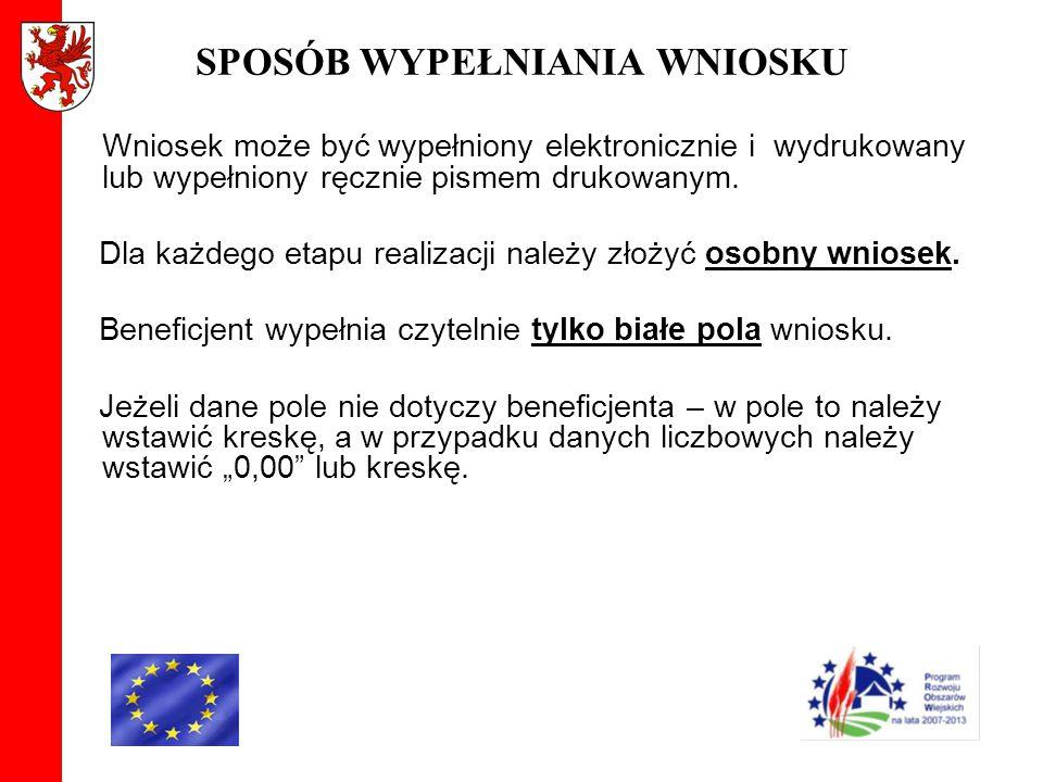ROZPATRZENIE WNIOSKU W przypadku przesłania uzupełnień do wniosku przesyłką nadaną w polskiej placówce pocztowej operatora publicznego, o terminowości ich złożenia decyduje data stempla pocztowego.