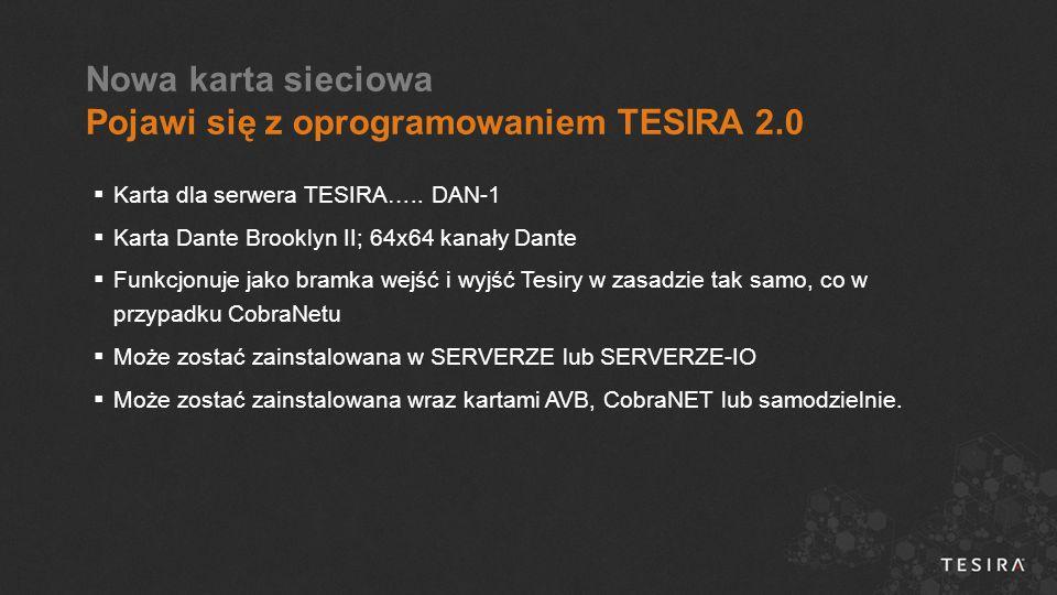  Karta dla serwera TESIRA…..