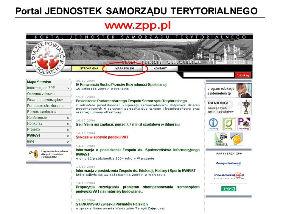 Portal JEDNOSTEK SAMORZĄDU TERYTORIALNEGO