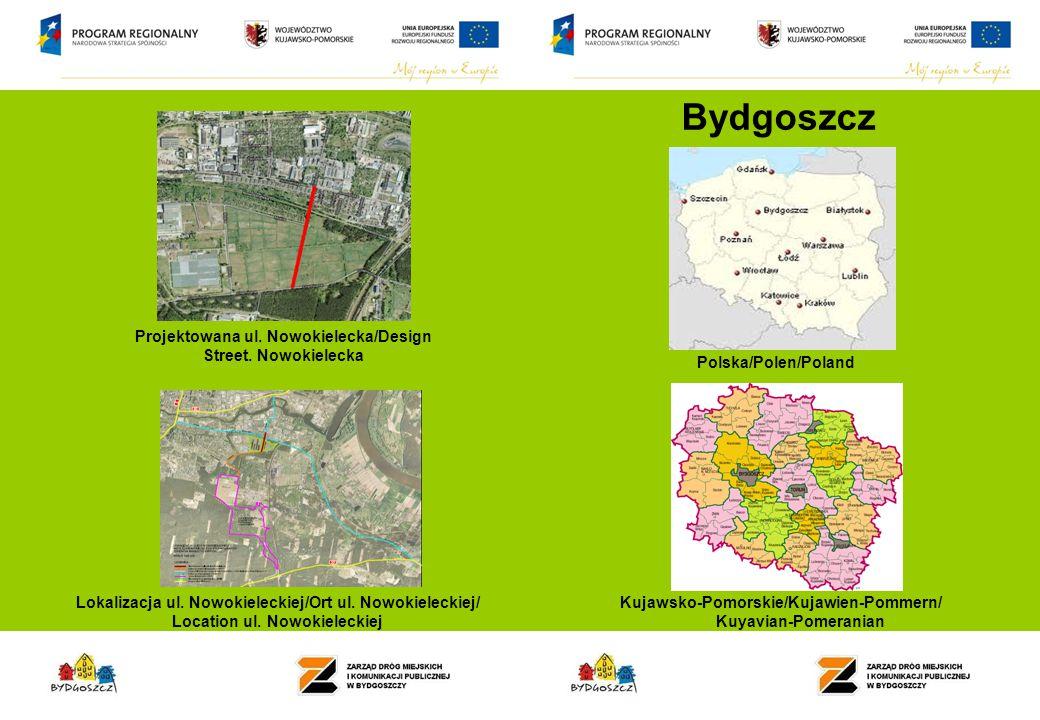 Bydgoszcz Projektowana ul. Nowokielecka/Design Street.