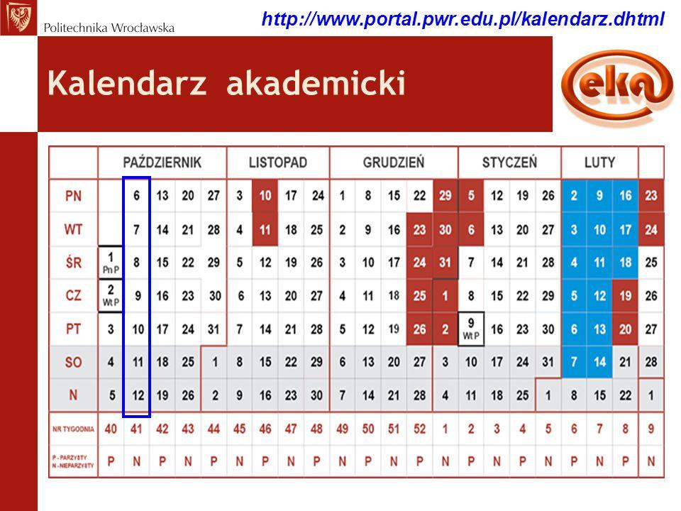 Kalendarz akademicki http://www.portal.pwr.edu.pl/kalendarz.dhtml