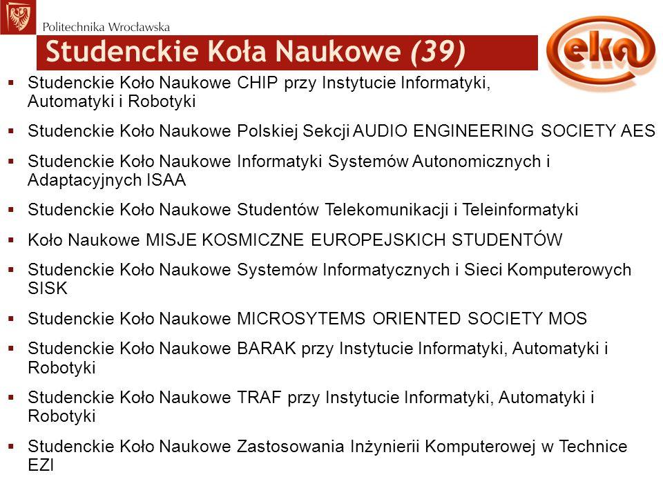 Studenckie Koła Naukowe (39)  Studenckie Koło Naukowe CHIP przy Instytucie Informatyki, Automatyki i Robotyki  Studenckie Koło Naukowe Polskiej Sekc