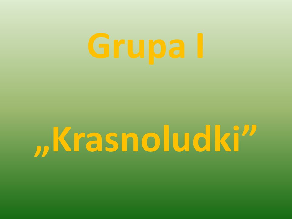 """Grupa I """"Krasnoludki"""""""