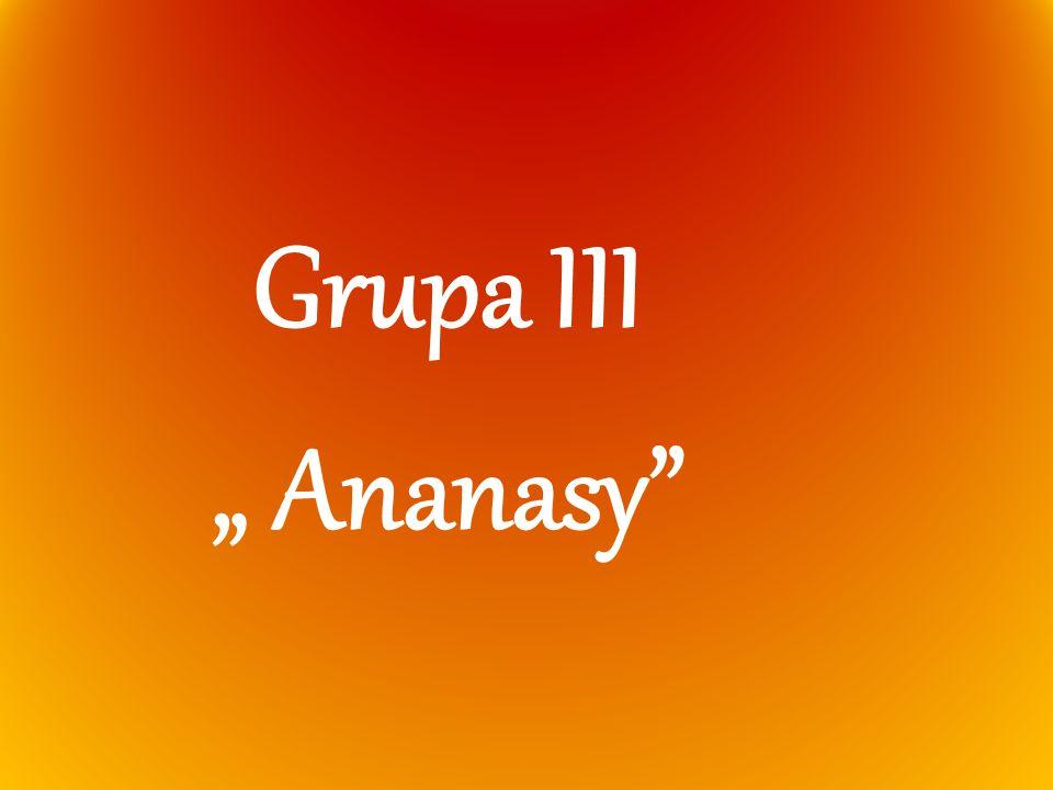 """Grupa III """" Ananasy"""""""