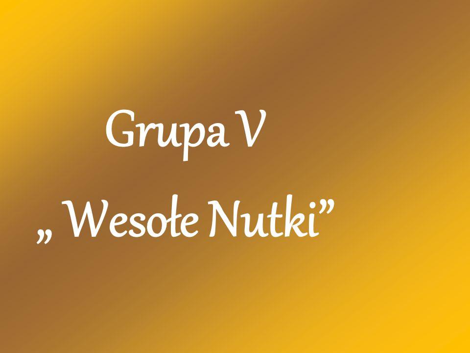 """Grupa V """" Wesołe Nutki"""""""