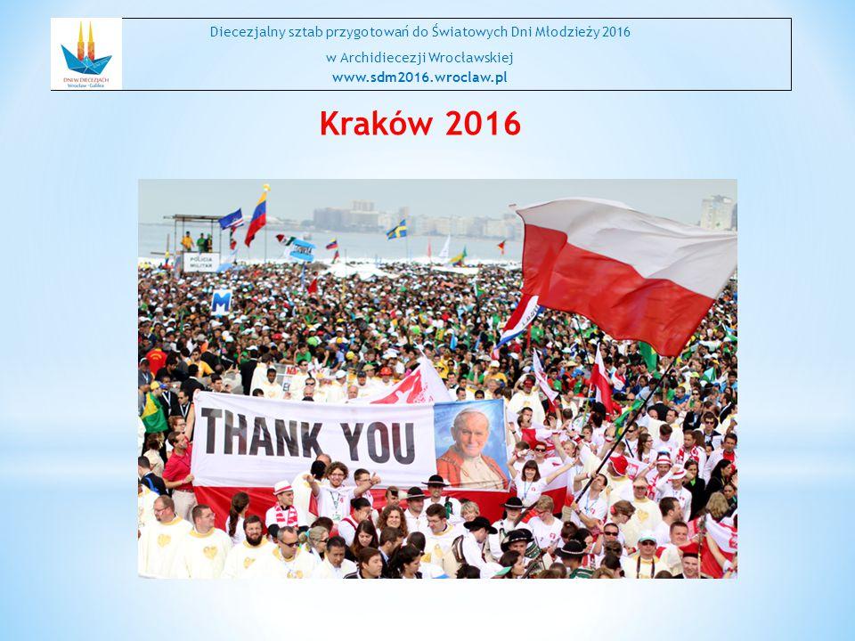 Kraków 2016 Diecezjalny sztab przygotowań do Światowych Dni Młodzieży 2016 w Archidiecezji Wrocławskiej www.sdm2016.wroclaw.pl