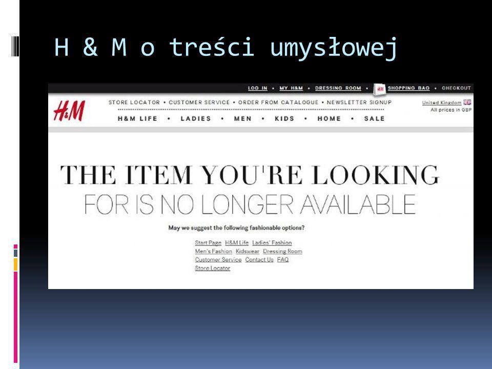 H & M o treści umysłowej
