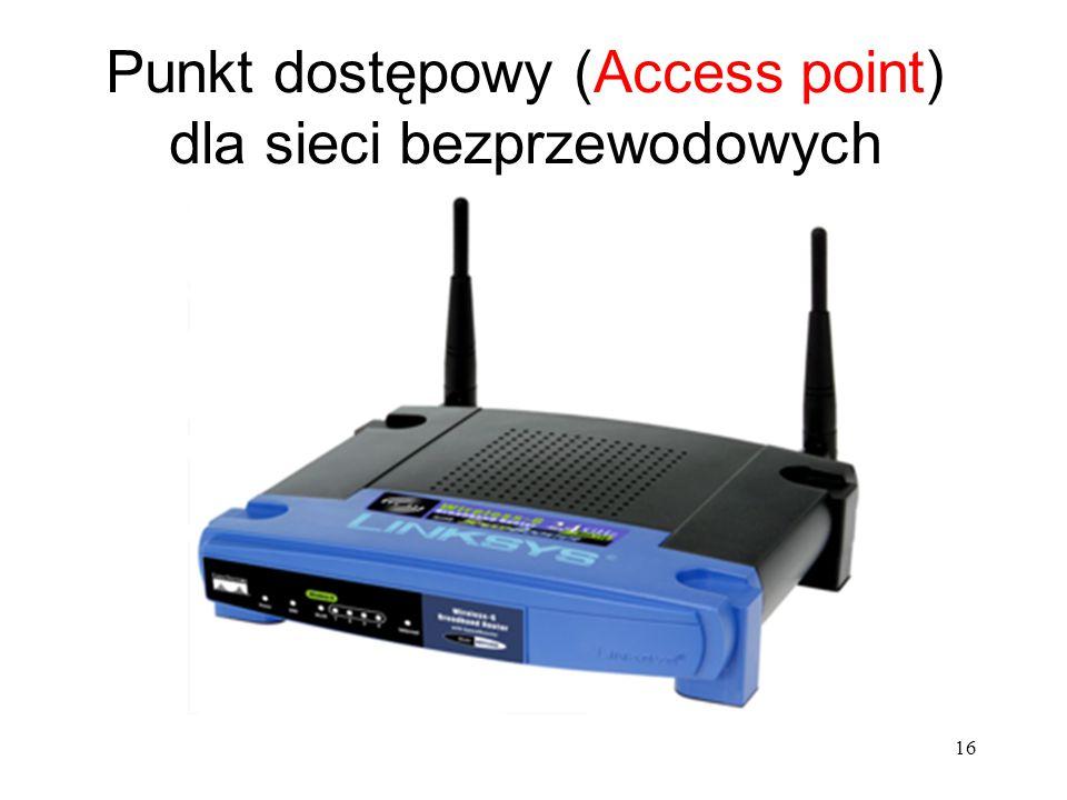 16 Punkt dostępowy (Access point) dla sieci bezprzewodowych