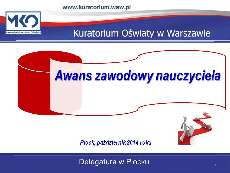 Awans zawodowy nauczyciela Płock, październik 2014 roku 1