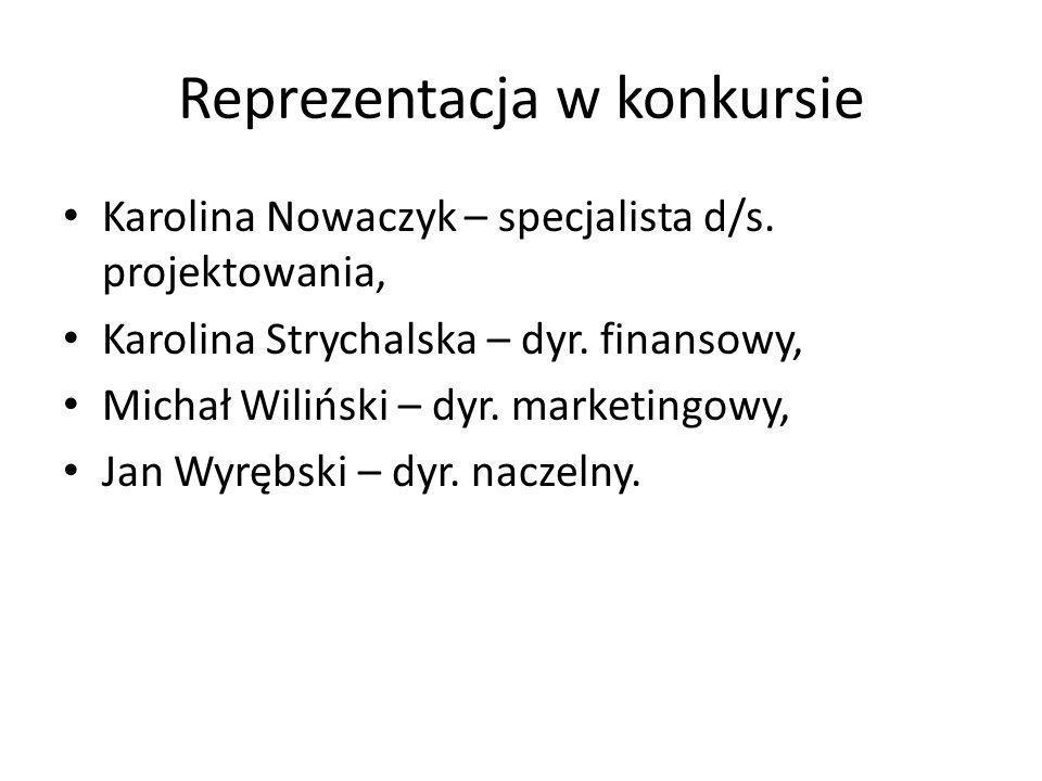 Reprezentacja w konkursie Karolina Nowaczyk – specjalista d/s.