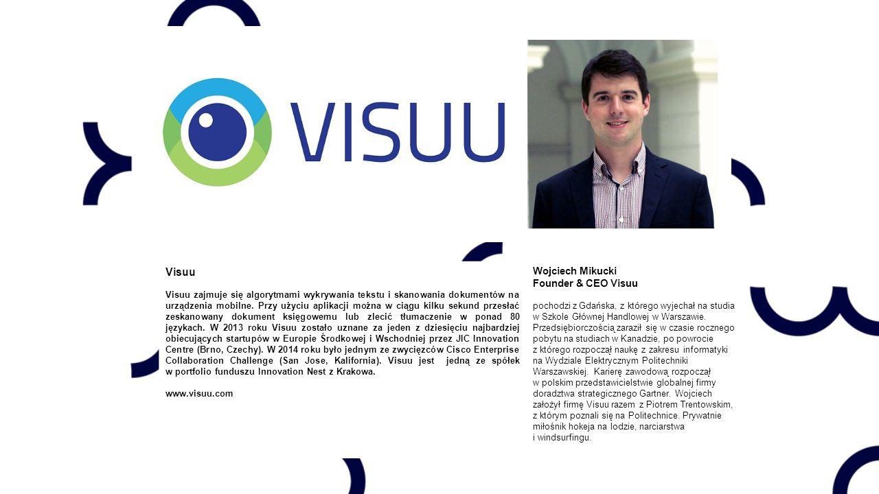Visuu Visuu zajmuje się algorytmami wykrywania tekstu i skanowania dokumentów na urządzenia mobilne.