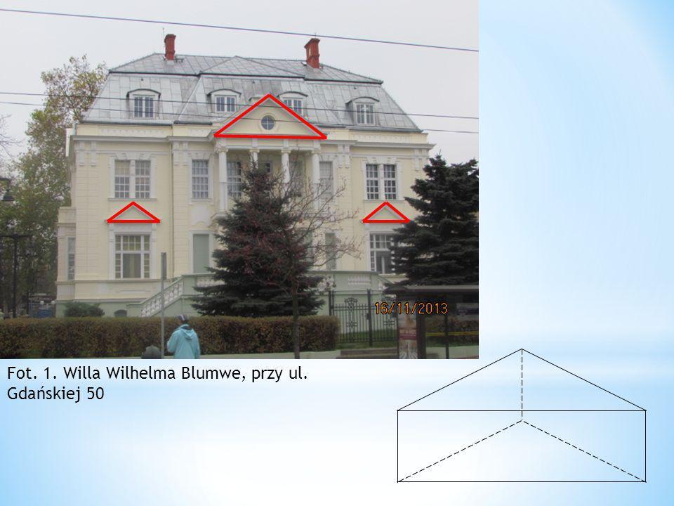 Fot. 1. Willa Wilhelma Blumwe, przy ul. Gdańskiej 50