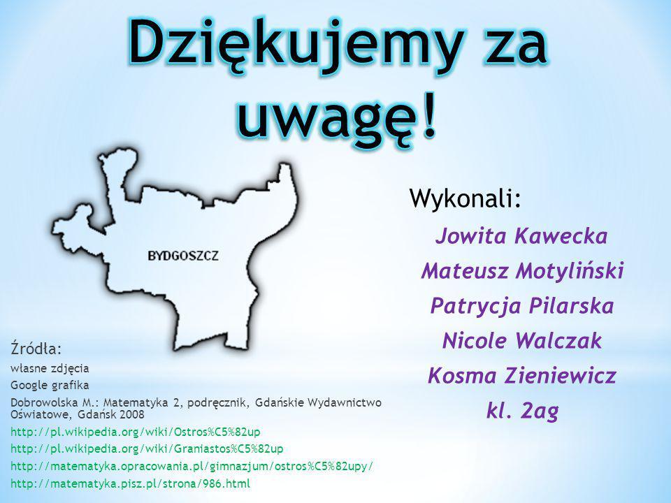 Źródła: własne zdjęcia Google grafika Dobrowolska M.: Matematyka 2, podręcznik, Gdańskie Wydawnictwo Oświatowe, Gdańsk 2008 http://pl.wikipedia.org/wi