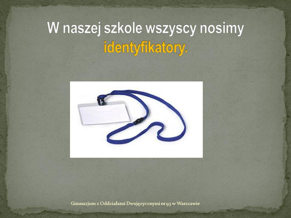 Nie !!! Gimnazjum z Oddziałami Dwujęzycznymi nr 93 w Warszawie Nie !!!
